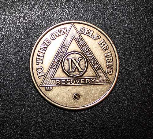 9 Years Sober Medal